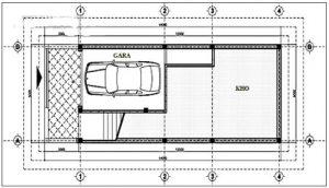 Thiết kế nhà ống 3 tầng hiện đại 5x11,8m. 2