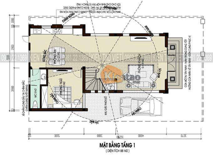 Phối cảnh 05 - Mẫu biệt thự đẹp tân cổ điển 2 tầng 80m2 chi phí 1 tỷ đồng