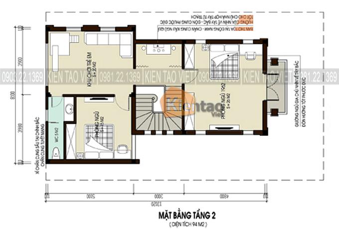 Phối cảnh 06 - Mẫu biệt thự đẹp tân cổ điển 2 tầng 80m2 chi phí 1 tỷ đồng