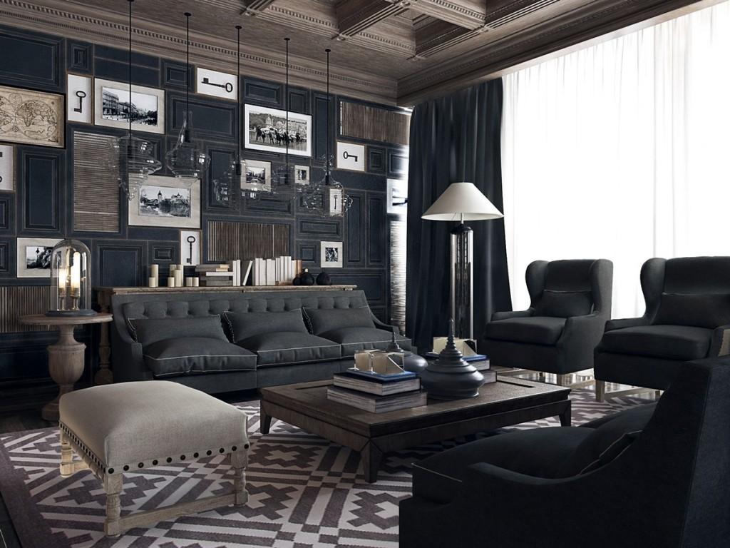 Biệt thự 3 tầng cổ điển - Phòng khách tối giản không gian sang trọng