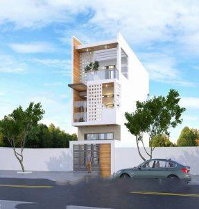Mẫu nhà phố lệch tầng 5x18m cao 3 tầng - Phối cảnh kiến trúc