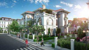 dự án nhà biệt thự phố ở phía tây hồ Tây