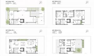 thiết kế nhà phố 4 tầng hiện đại