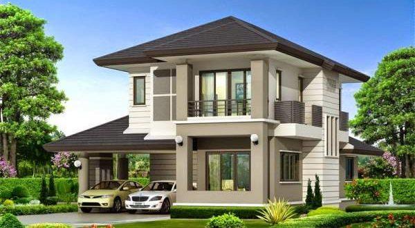 Mẫu thiết kế biệt thự đẹp 2 tầng mái thái - Phối cảnh