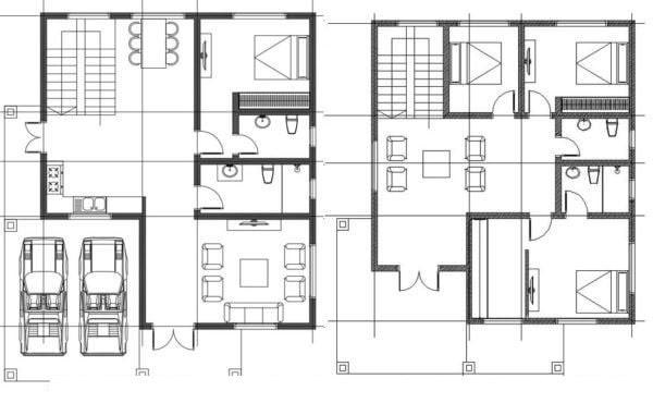 Mẫu thiết kế biệt thự đẹp 2 tầng mái thái - Mặt bằng công năng