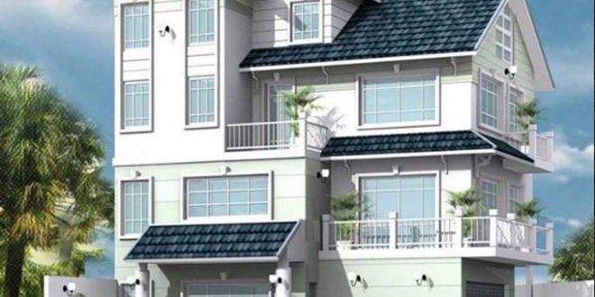 Mẫu thiết kế biệt thự đẹp 3 tầng mái thái - 2