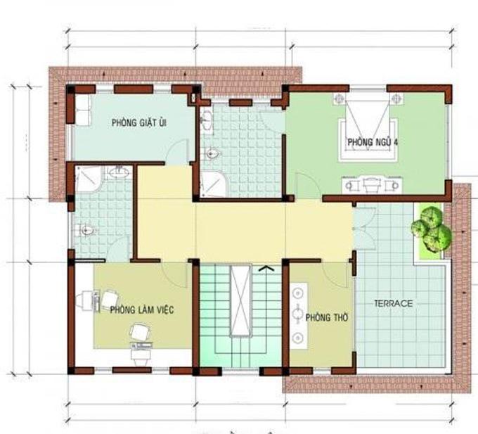 Mặt bằng công năng mẫu thiết kế biệt thự đẹp 3 tầng - 3