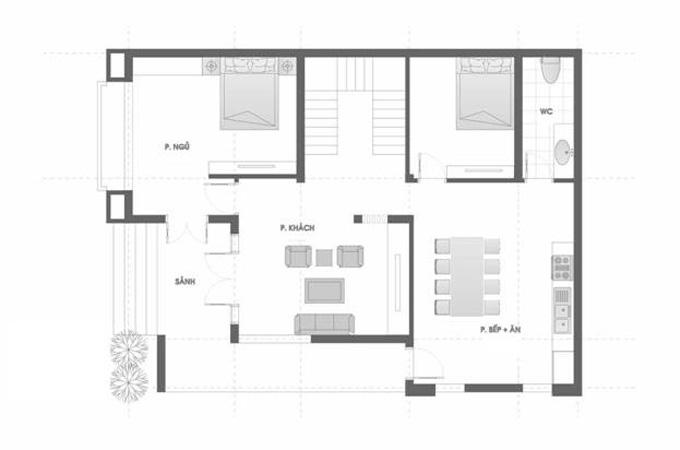Mặt bằng công năng mẫu thiết kế biệt thự đẹp 3 tầng mái thái - 1
