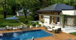Vẻ đẹp mẫu thiết kế biệt thự đẹp 1 tầng có hồ bơi