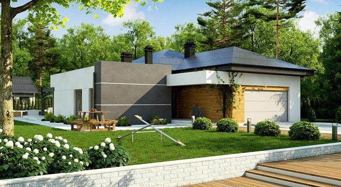 Vẻ đẹp mẫu thiết kế biệt thự đẹp 1 tầng có hồ bơi - 2