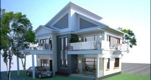 Vẻ đẹp bên ngoài mẫu thiết kế biệt thự đẹp hiện đại 2 tầng