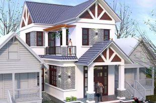 PC1 - Thiết kế biệt thự mái thái mặt tiền 7m 2 tầng