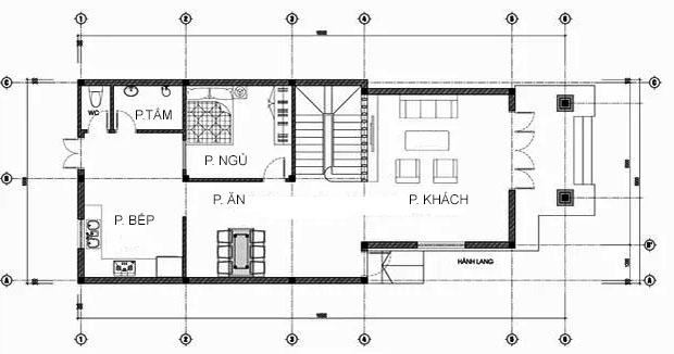 MB1 - Thiết kế biệt thự mái thái mặt tiền 7m 2 tầng