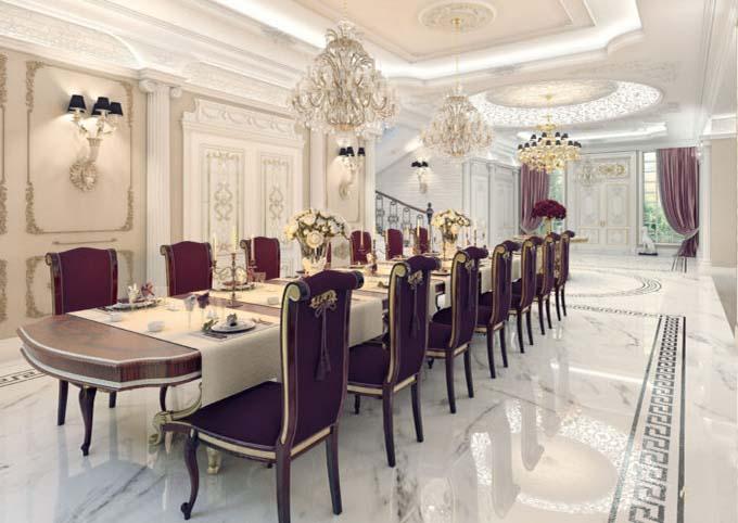 Phòng ăn - Biệt thự tân cổ điển châu Âu sang trọng