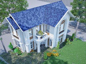 PC2 - Thiết kế biệt thự vườn 2 tầng mái thái 220m2