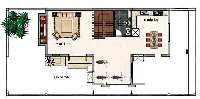 MB1 - Biệt thự vườn 2 tầng mái thái 220m2