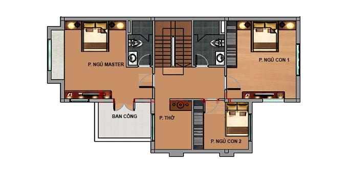 MB2 - Biệt thự vườn 2 tầng mái thái 220m2
