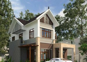 PC góc: Biệt thự 2 tầng 150m2 hiện đại tại Vĩnh Phúc