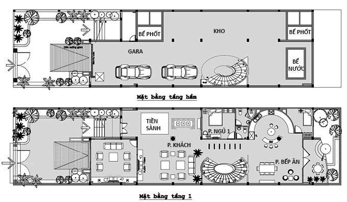 MB1 - Biệt thự 2 tầng có hầm tại Hà Giang