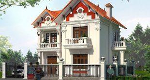 Thiết kế biệt thự tân cổ điển 2 tầng mái ngói