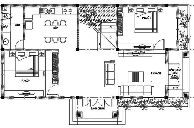 MB1- Biệt thự đẹp tân cổ điển 2 tầng