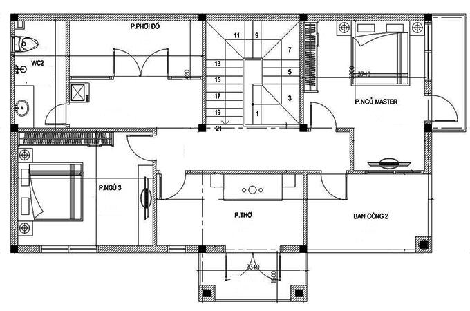 MB2- Biệt thự đẹp tân cổ điển 2 tầng