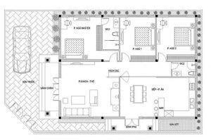 Cong năng nhà vườn 1 tầng 3 phòng ngủ 150m2