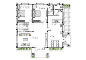 MB Tầng 1 - Nhà cấp 4 gác lửng 3 phòng ngủ mái thái