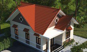Góc nhìn trên cao Nhà cấp 4 mái thái 3 phòng ngủ