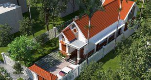 Toàn cảnh mẫu thiết kế nhà cấp 4 mái thái 5x20m