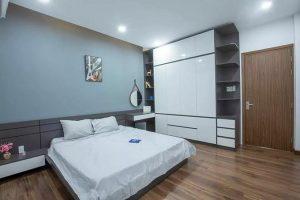 Phòng ngủ nhà cáp 4 đẹp có gác lửng 5x20m