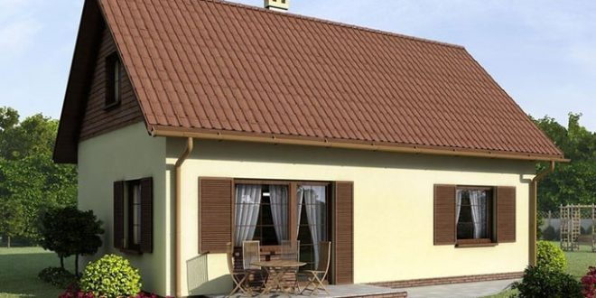 Phối cảnh mặt tiền chính - Nhà cấp 4 mái tôn 2 phòng ngủ