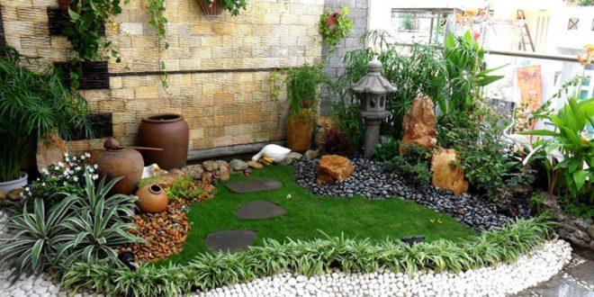 mẫu thiết kế sân vườn tiểu cảnh