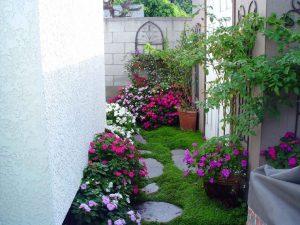 khu vườn kết hợp hoa đá sỏi