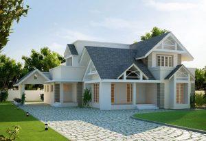 Phối cảnh mẫu thiết kế nhà vườn cấp 4 hiện đại