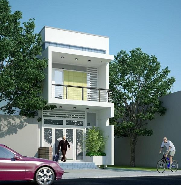 mẫu nhà 2 tầng 4x15m