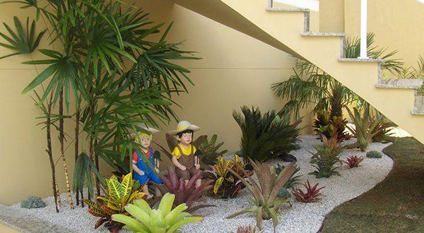 tiểu cảnh sân vườn mini