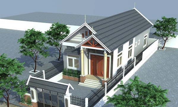 mẫu nhà cấp 4 mái thái 3 phòng ngủ đẹp và đầy đủ tiện nghi