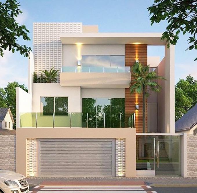 Mẫu 12: mẫu thiết kế nhà 2 tầng mặt tiền 6m