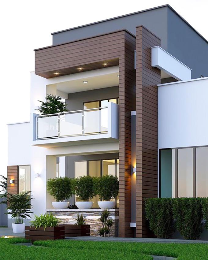 Mẫu 13: mẫu thiết kế nhà 2 tầng mặt tiền 6m