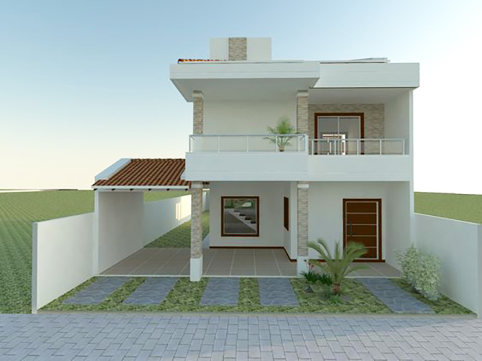 Mẫu 17: mẫu thiết kế nhà 2 tầng mặt tiền 6m