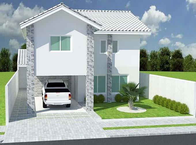 Mẫu 19: mẫu thiết kế nhà 2 tầng mặt tiền 6m