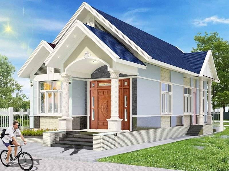 Kiến trúc mái thái tạo nên sự trang nhã cho tổng thể mặt tiền của công trình