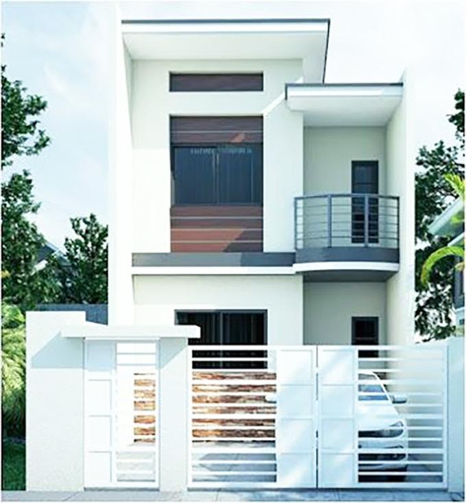 Mẫu 2: mẫu thiết kế nhà 2 tầng mặt tiền 6m