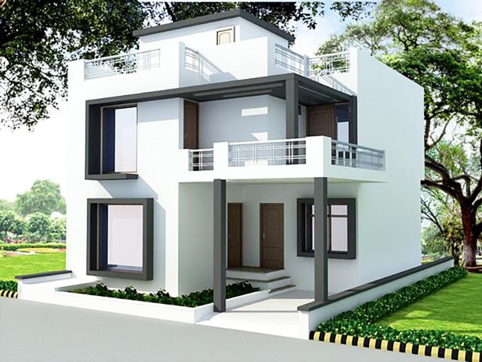 Mẫu 3: mẫu thiết kế nhà 2 tầng mặt tiền 6m