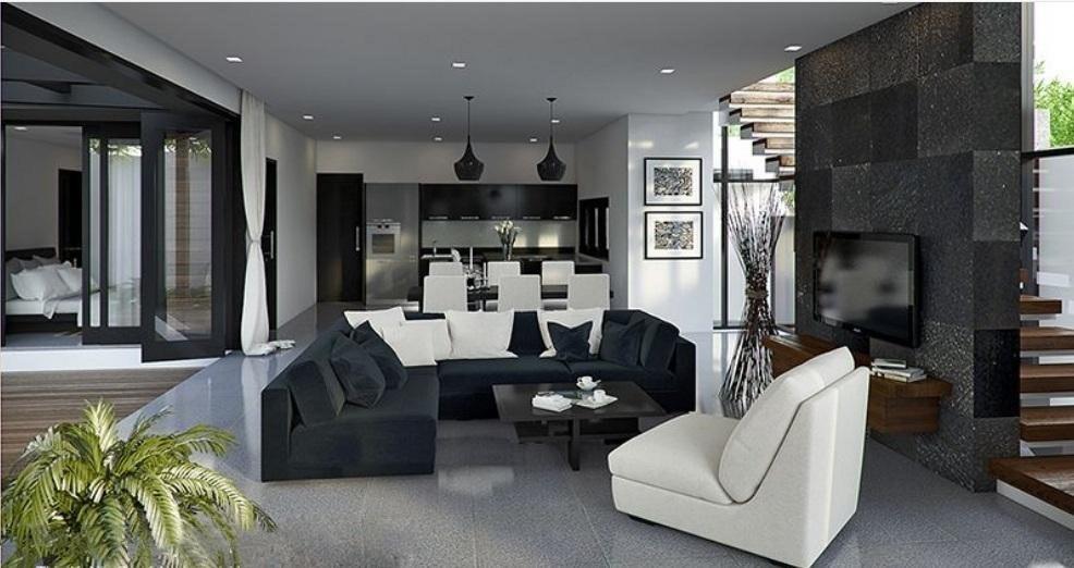 Thiết kế nội thất biệt thự 2 tầng phong cách Châu Âu