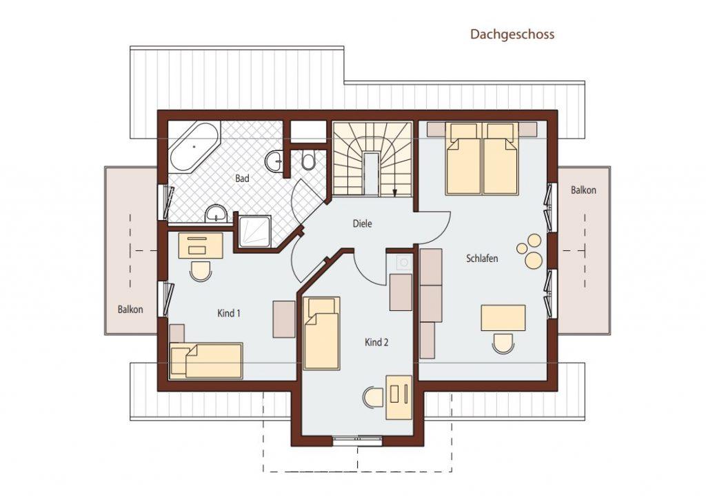 Phối cảnh thiết kế nhà 2 tầng mái thái