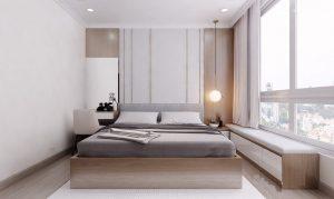 Mẫu thiết kế nội thất căn hộ 76m2 có 2 phòng ngủ