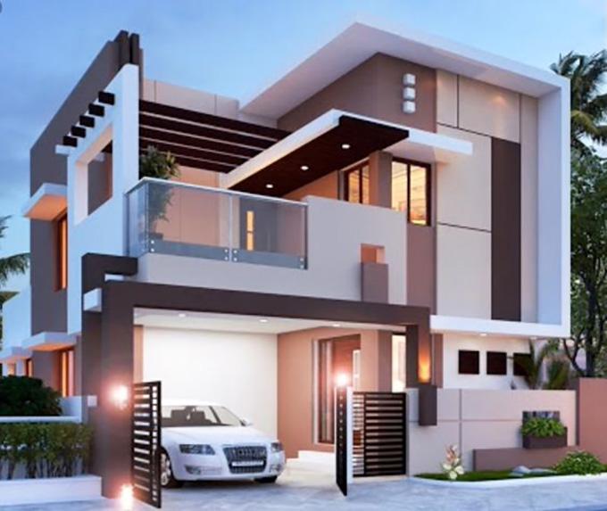 Mẫu 5: mẫu thiết kế nhà 2 tầng mặt tiền 6m