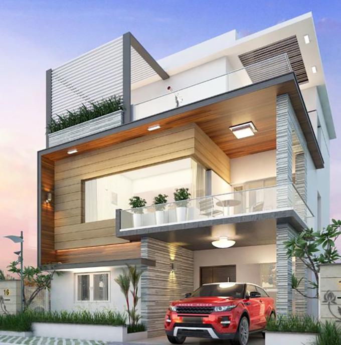 Mẫu 6: mẫu thiết kế nhà 2 tầng mặt tiền 6m